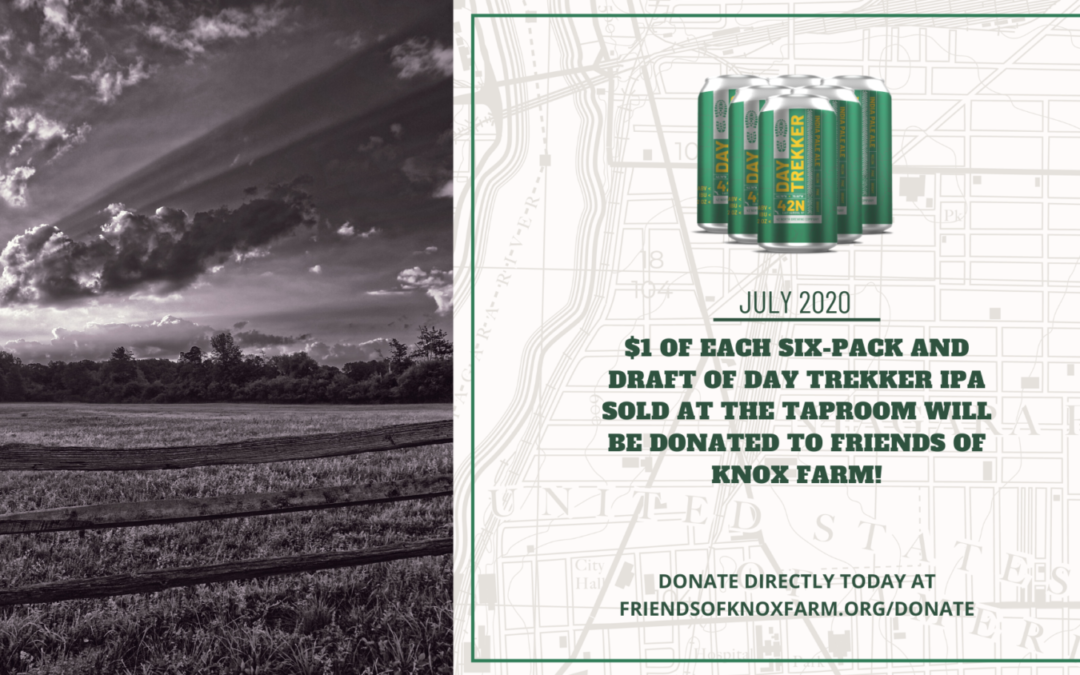 $1 Donated To Friends Of Knox Farm For Every Day Trekker IPA Sold.